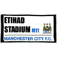 100%COTTON  MANCHESTER CITY STREET SIGN ETIHAD STADIUM 70 X 140 CM BEACH TOWEL