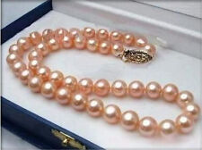 Charming 6-7mm Pink Cultured Akoya Pearl Necklace 18''