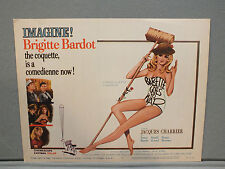 "1960 ""BABETTE GOES TO WAR"" starring Brigitte Bardot, Columbia Pic.US Lobby Card"