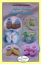 Crochet Super Simple Baby Booties by Annie Potter crochet baby bootie pattern