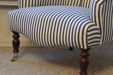 Pair Of Bedroom Reading Chairs Fireside Chairs In Stripe Ticking