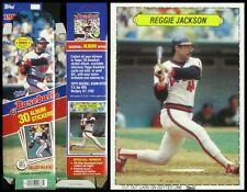 1983 Topps Baseball Stickers - Empty Display Box - w/SCARCE Reggie Jackson Card