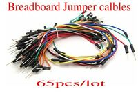 65pcs/set Solderless Flexible Breadboard Jumper Cable Wires For Arduino DIY