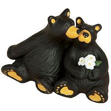 Big Sky Carvers Bearfoots Bear Little Smooch Mini Figurine Kissing Black Bears