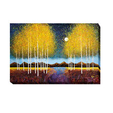 Full Moon Panorama by Melissa Graves-Brown Gallery-Wrapped Canvas Giclee Art