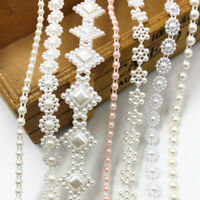 2Yards Mix Semi-cirle Simulated-pearl Plastic Chain beads DIY Accessory
