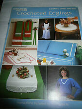 1984 Crocheted Edgings Pattern Book 15 Designs Scallop Pyramid Picot Lace Crowns