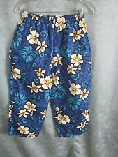 Vintage Aloha Republic Pants Size Medium Made in Hawaii Floral Print Capri NWOT