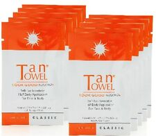 10 x TAN TOWEL ~ tantowel CLASSIC HALF BODY SELF TAN TOWELETTE New packaging!