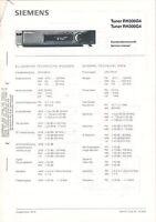 SIEMENS Service Manual Anleitung Tuner RH300G4  B1589