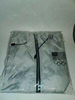Vintage NOS USA Olympics Windbreaker Jacket 90s RARE Gray Size Large