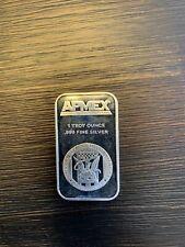 1 oz .999 Fine Silver ApMex Bar