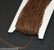 32ft of antiqued copper flat cable chain 3X2.5mm