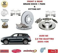 FOR AUDI Q5 2.0 TDI QUATTRO 2009-->ON FRONT + REAR BRAKE DISCS & PADS + FITTING