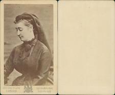 L'Impératrice Eugénie en deuil vintage CDV albumen carte de visite,  CDV,
