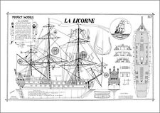 TINTIN LA LICORNE :  POSTER/REPRINT 40x60cm : PLAN/MAQUETTE(**) Papier Satiné