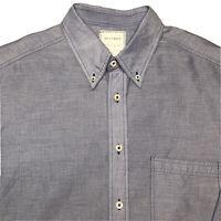 Billy Reid Men's Sz Large Blue White Stripe  Long Sleeve Shirt