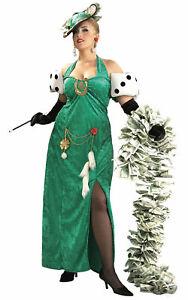 Lady Luck St Patricks Day Irish Deluxe Casino Vegas Women Costume