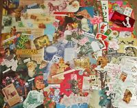 150pc🎄XMAS HOLIDAY🎄Junk Journal Art Lot~Vtg Paper,Victorian Cuts,Tags,Ephemera