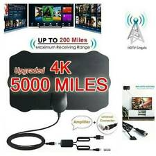Digital HD TV Antenna Aerial Signal Amplified 4K 1080P Freeview 5000Miles Indoor