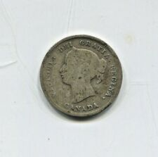 1898 Canadian Five Cent Silver Coin Good (CTL1118)