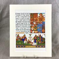 1950 Ebraico Stampa Judaica Ebraico Slaves Egitto Pasqua Arthur Szyk Haggadah