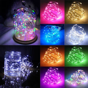 Fairy Lights LED Mains Battery String Outdoor Christmas Tree Party Bedroom Decor