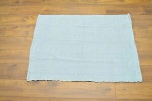 Handmade Carpet Rug Kilim Hand Knotted & Woven In India 100% Wool 130x90cm Ocean