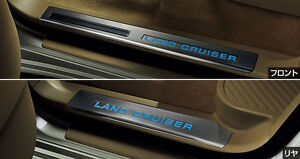 2015 2016 2017 TOYOTA JAPAN LAND CRUISER 202 GENUINE DOOR SCUFF LED PLATED SILL