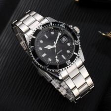 Hot Mens Military Stainless Steel Date Calendar Sport Quartz Analog Wrist Watch