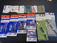Tamiya TA03 Hop Up Parts Lot - NOS TA-03 Universals, Steering, Titanium, Carbon