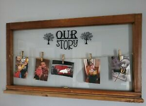 Vintage wood window picture frame