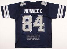 Jay Novacek Signed Dallas Cowboys Career Highlight Stat Jersey (JSA COA)  NFL