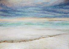 Watercolor Original Painting -  Arctic Scene
