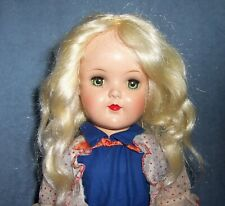 """Beautiful! ~ Vintage 19"""" Hard Plastic Ideal Toni Doll in Original Tagged Dress"""