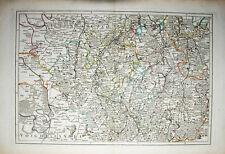 1758 Sachsen Erzgebirge Grenzkolorierte Kupferstich-Landkarte