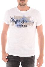 Original T-Shirt Col Rond PEPE JEANS LONDON PM502526 GOLDERS 2 Blanc T.XS NEUF