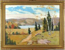 Sydney Berne (1921-2013) Canadian Vintage Oil/Board Quebec Laurentians Landscape