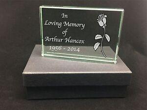 In Loving Memory Of Dad Mum - Memorial Personalised Engraved Large Glass Block