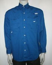 Columbia Mens Fishing Shirt Button Up Pfg Long Sleeve Size Medium 4 Pocket