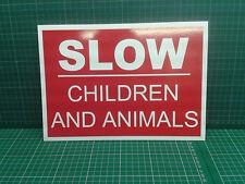 A4 Slow children & animals - Free p&p