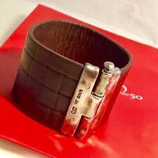 NWT Uno de 50 Quadrilateral Leather Cuff Bracelet $165.00