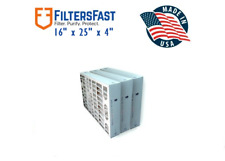 Filters Fast 4 Inch MERV 8 Air Filters 3 Pack FF4M8 16x25x4