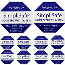 2 SIMPLISAFE HOME SECURITY YARD SIGNS WITH 8 SECURITY STICKER DECALS BRINKS ADT
