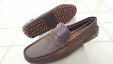 Lacoste Concours 16 Men Casual Moccasins Leather Loafer Shoes US10.5/EUR44 Brown