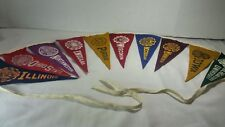 Vintage Big Ten College Mini Felt Pennants Strand Banners Universities