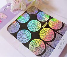 Nail Art Vinyl Manicure Stencil Guide Diamond Drops Style Manicure Sticker N313