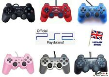 Official Genuine SONY Ps2  DUAL SHOCK : 2 Controller Red Blue Black Silver Pink