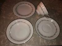 Noritake Crestmont 16 Pc Tea Cup & Saucer w/ Bread & Butter Plate & Dessert Bowl