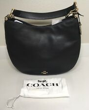 New Coach Nomad Black in Burnished Glovetanned Leather Handbag Crossbody